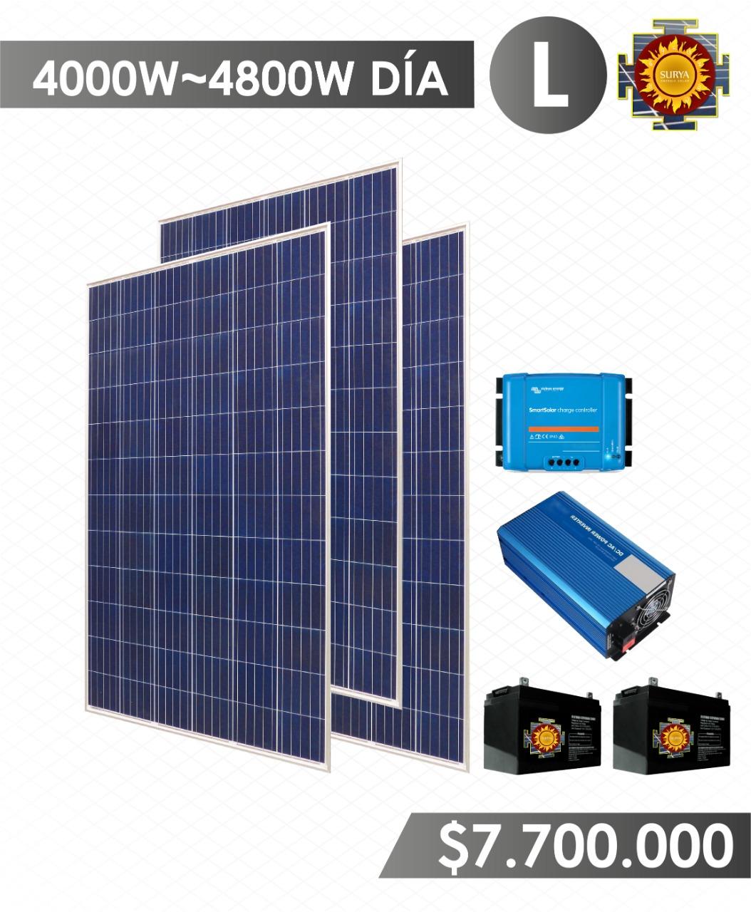 Planta solar autonoma 4000w a 4800w 1