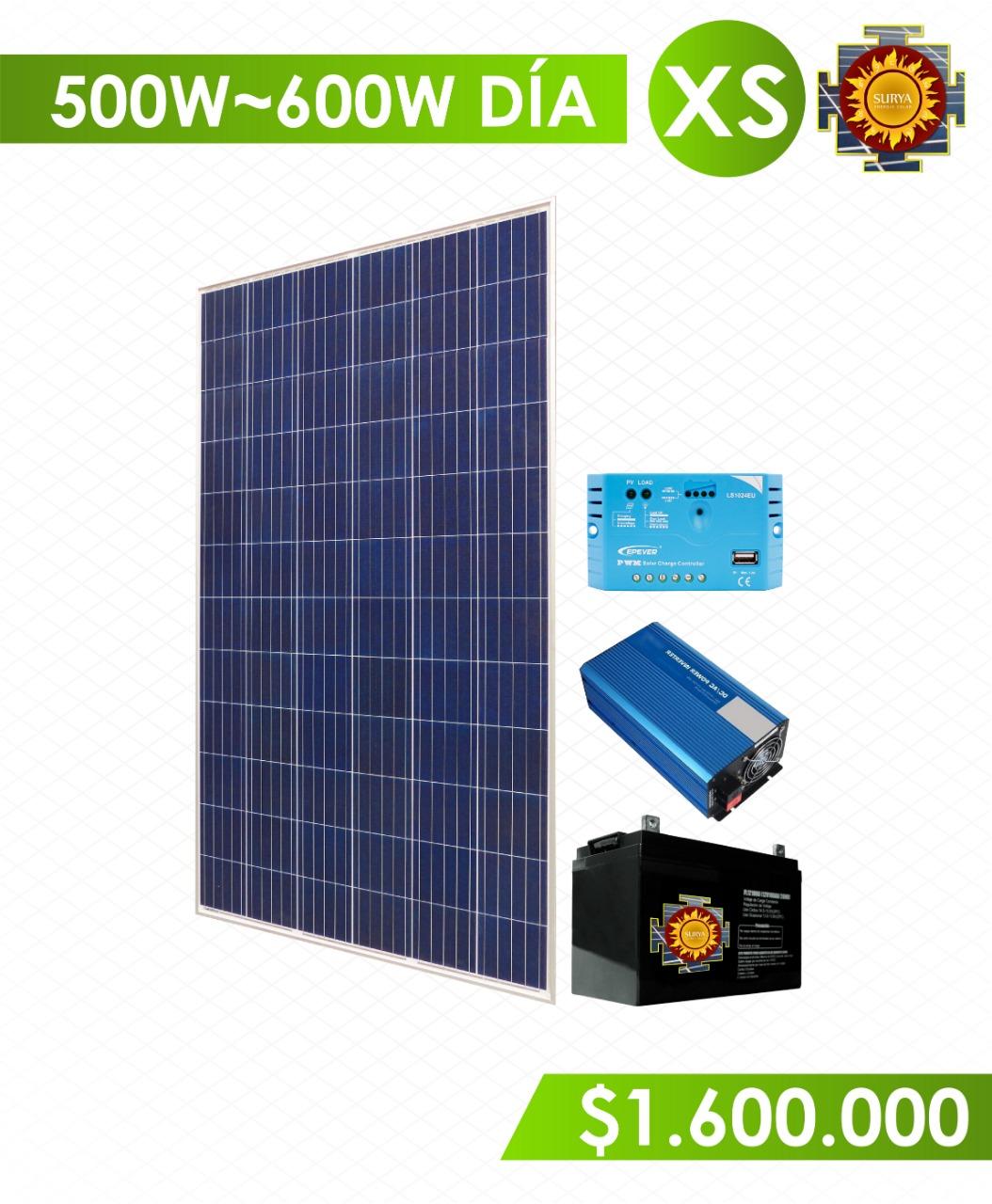 Planta solar autonoma 500w a 600w