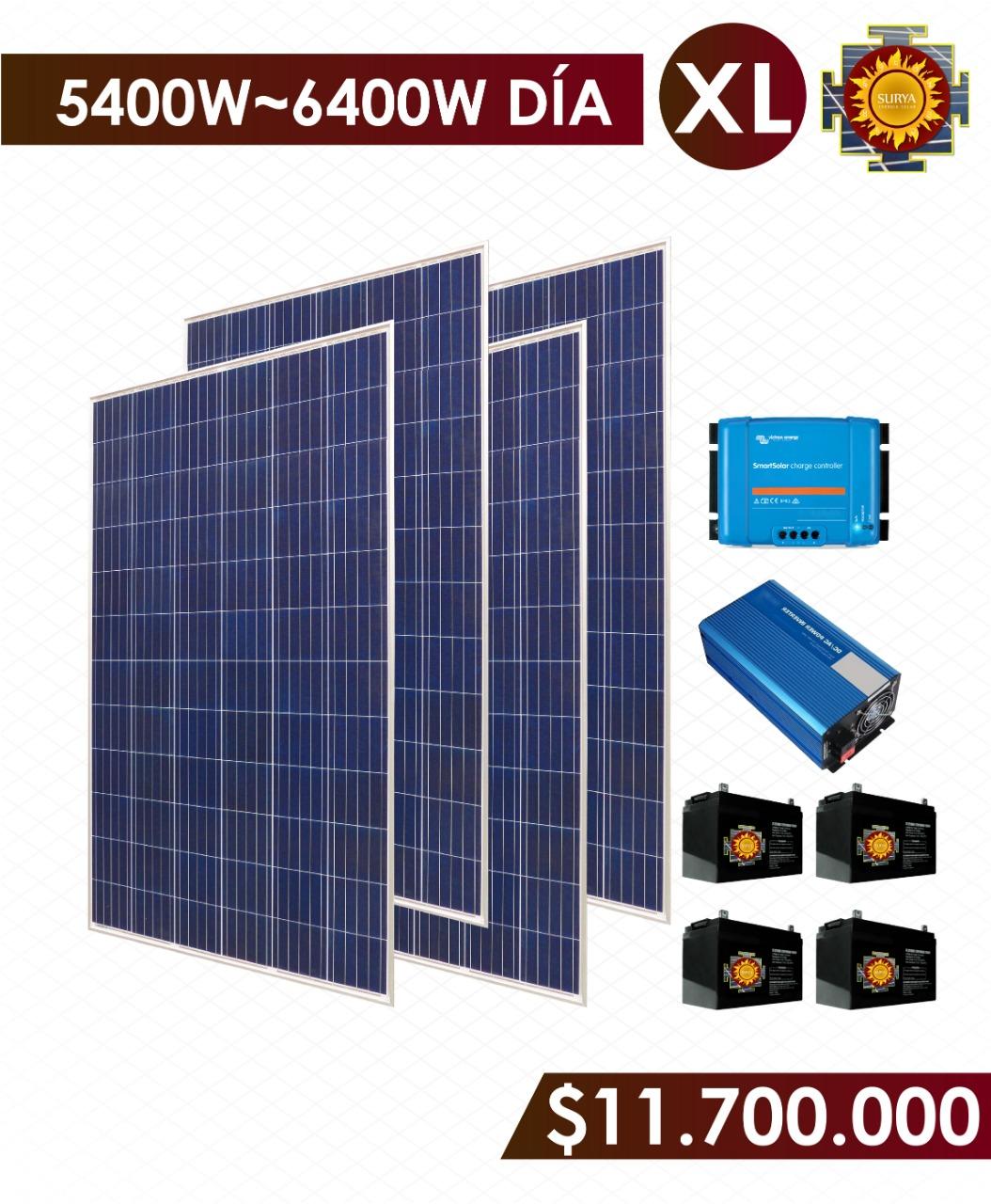 Planta solar autonoma 5400w a 6400w