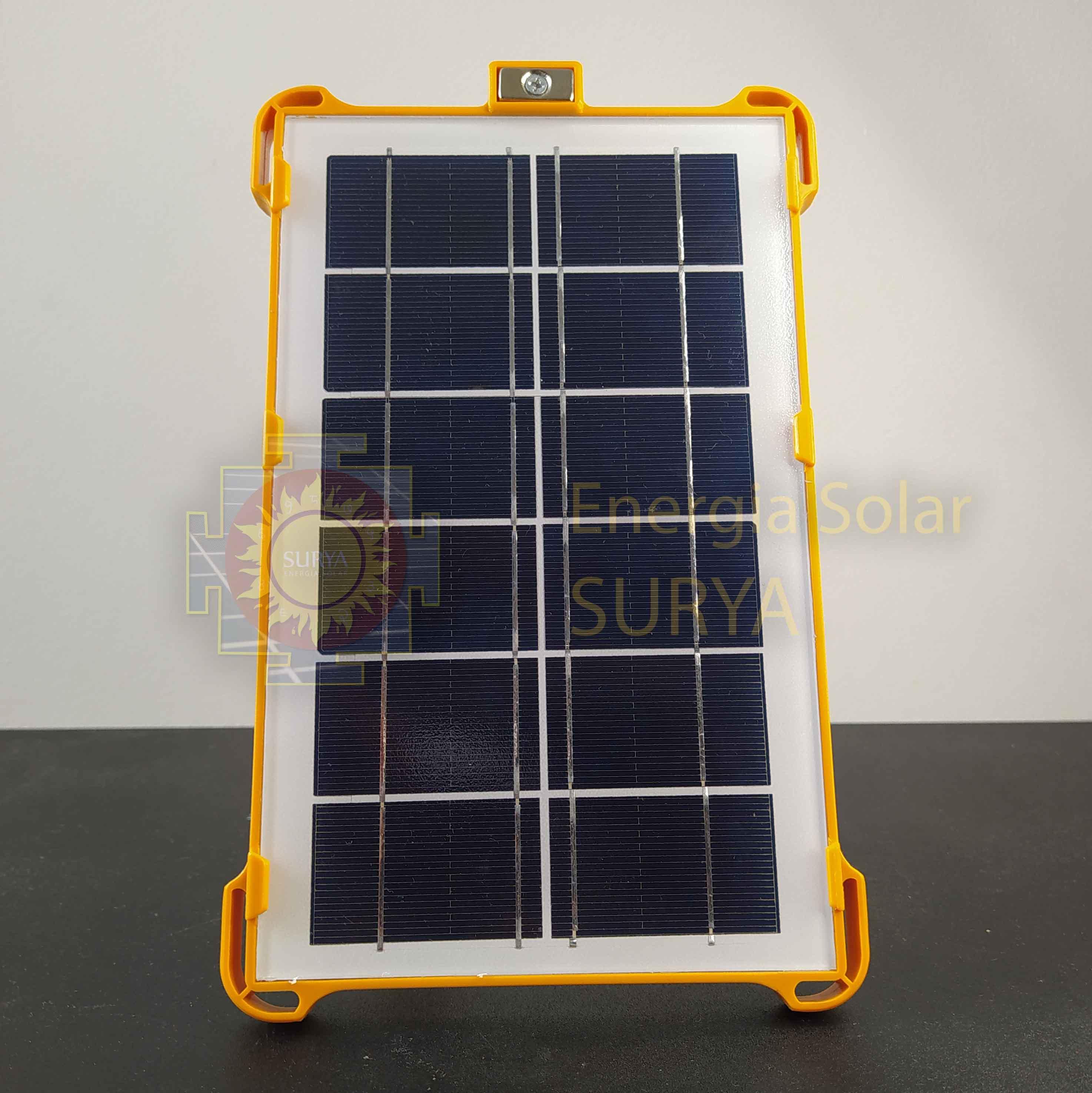 Energia solar para iluminacion pequeña y cargar celular 2