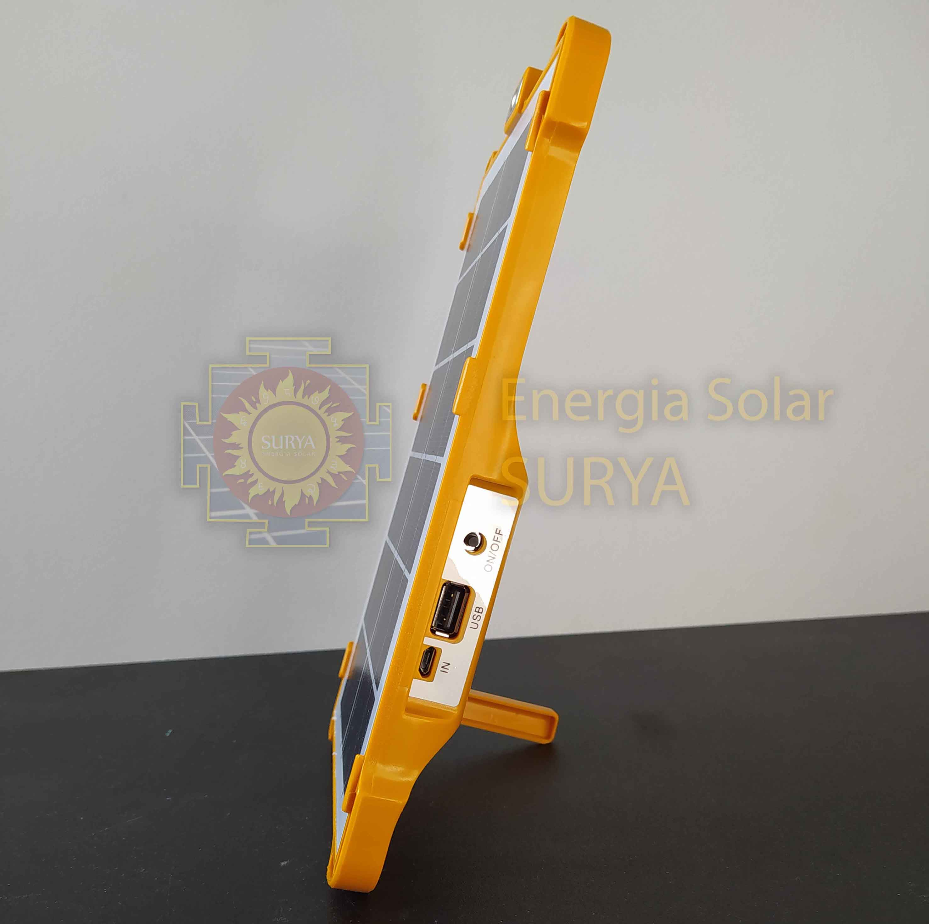 Energia solar para iluminacion pequeña y cargar celular 3