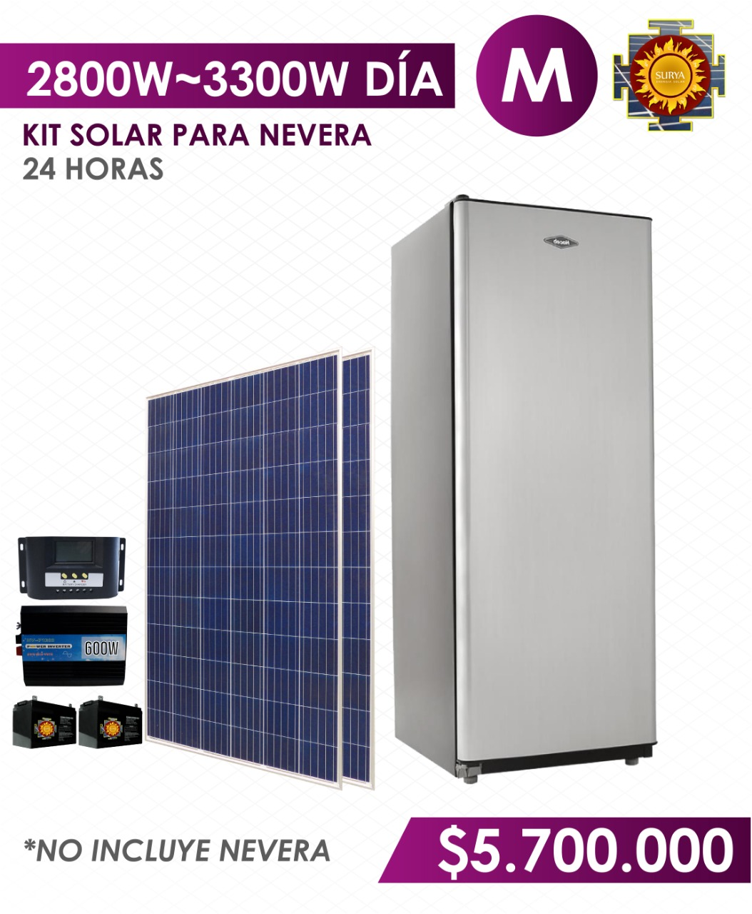 Nevera con energia solar en colombia