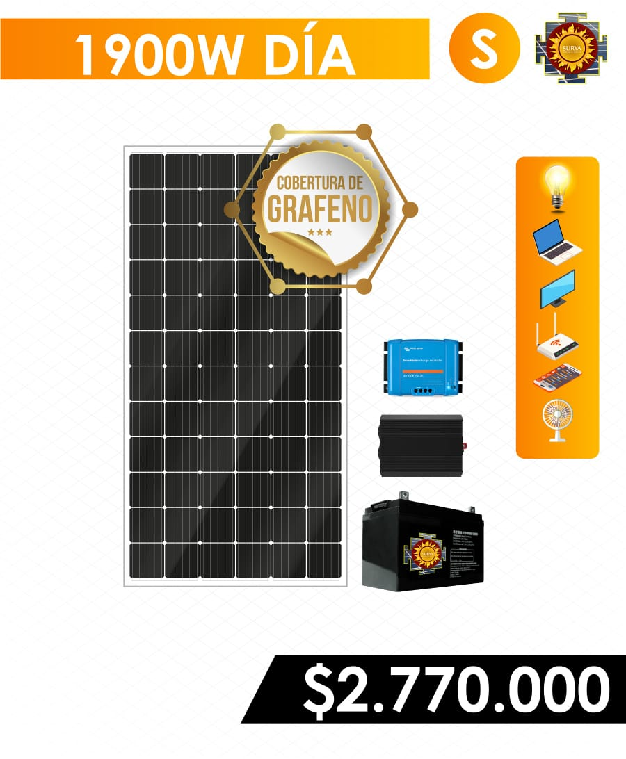 Planta solar 1800watts 1